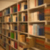 an image of a library bookcase
